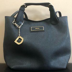 DKNY black bucket bag